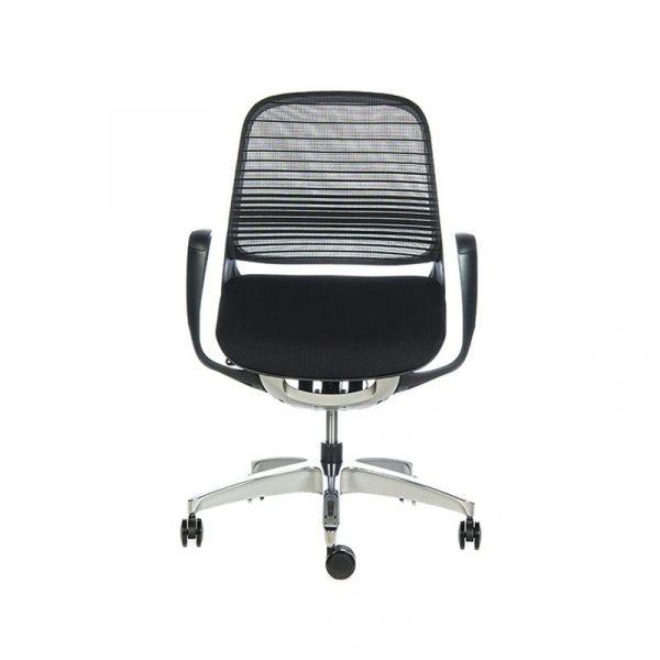 Silla escritorio luce negra negra 01a