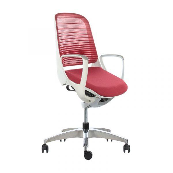 Silla escritorio luce roja 03