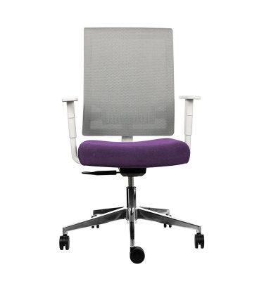 Silla escritorio Join blanca morado 01