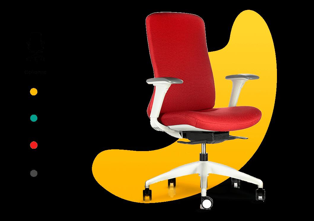 silla y colores
