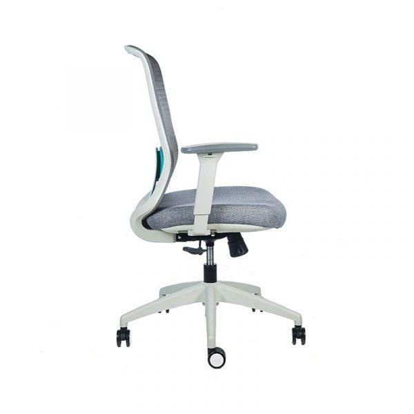 Silla escritorio diva gris verde 3
