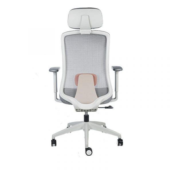 silla escritorio Diva gris con cabecero apoyo rojo 5