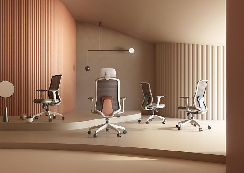 silla escritorio diva blanca ambientada 1