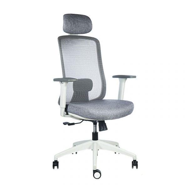 silla escritorio Diva gris cabecero apoyo gris 7