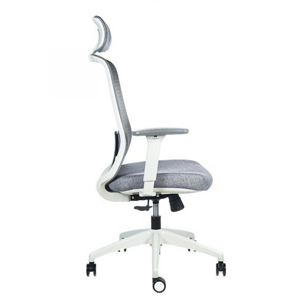 silla escritorio Diva gris cabecero apoyo gris 8