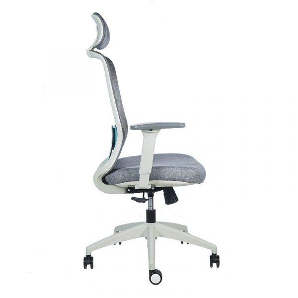 silla escritorio Diva gris con cabecero apoyo verde 3